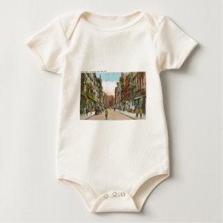 Mott Street, CHINATOWN, New York City (Vintage) Baby Bodysuit