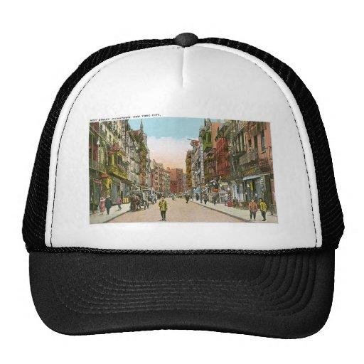 Mott Street, CHINATOWN, New York City (Vintage) Trucker Hat