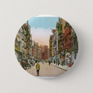 Mott Street, CHINATOWN, New York City (Vintage) Pinback Button
