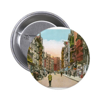 Mott Street, CHINATOWN, New York City (Vintage) Pinback Button
