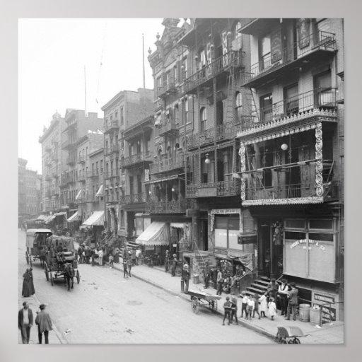 Mott Street, New York, 1900 Posters