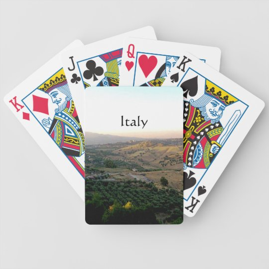 Motta Italy Landscape Photograph Bicycle Playing Cards