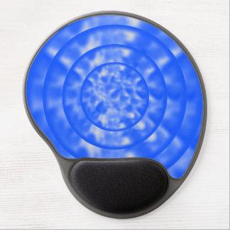 Mottled Blue and White Ripples Gel Mousepads