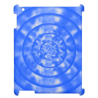 Mottled Blue and White Ripples iPad Covers