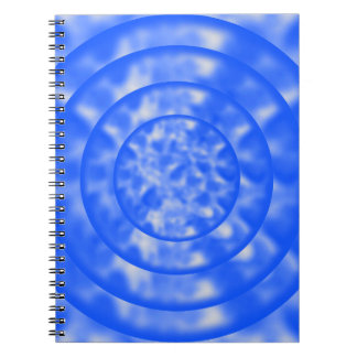 Mottled Blue and White Ripples Notebook