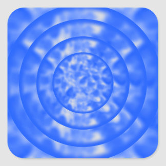 Mottled Blue and White Ripples Square Sticker