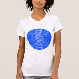 Mottled Blue and White Ripples T-shirt