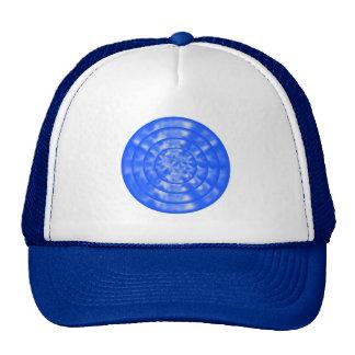 Mottled Blue and White Ripples Trucker Hat