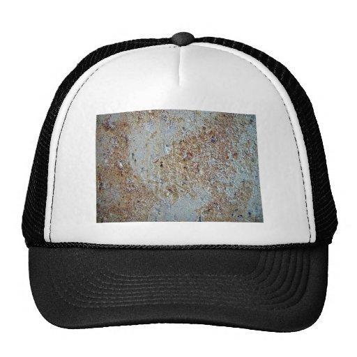 Mottled brick texture mesh hat