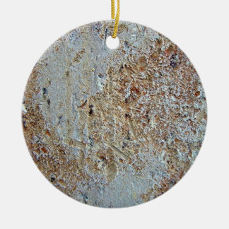 Mottled brick texture christmas tree ornament