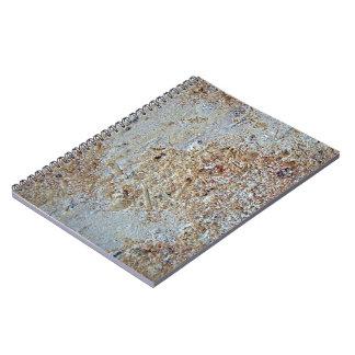 Mottled brick texture spiral notebook
