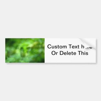 mottled green background bumper sticker