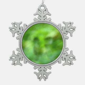 mottled green background ornaments