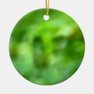 mottled green background christmas tree ornaments