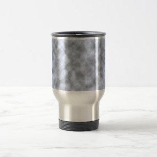 Mottled light blue black pattern background 15 oz stainless steel travel mug