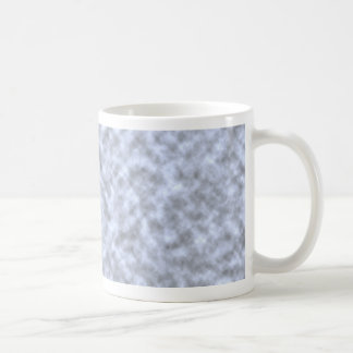 Mottled light blue black pattern background classic white coffee mug