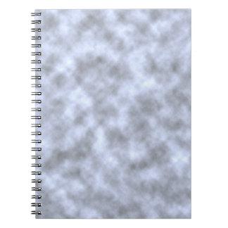 Mottled light blue black pattern background note books