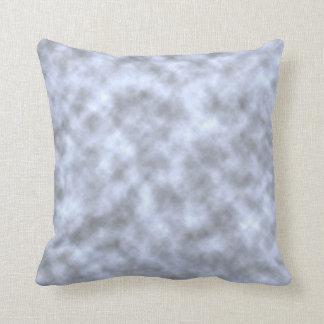 Mottled light blue black pattern background throw pillows