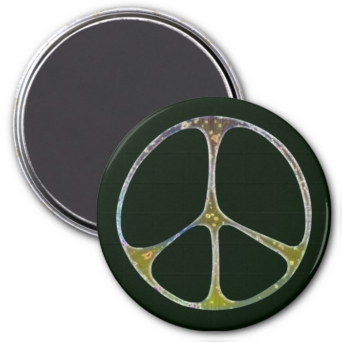 Mottled Peace 3 Inch Round Magnet