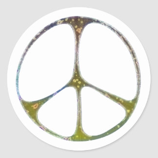 Mottled Peace Classic Round Sticker