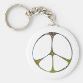 Mottled Peace Keychain
