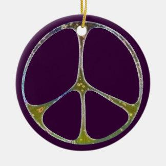 Mottled Peace Christmas Ornament