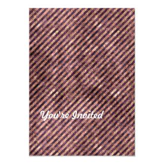 Mottled Peach & Purple Stripes Card