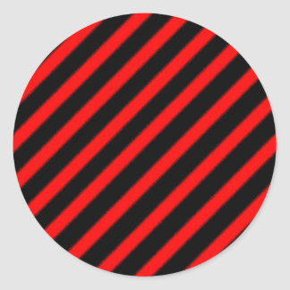 Mottled Red Lines Classic Round Sticker