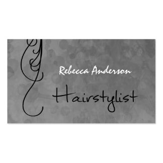 Mottled Silver Hairstylist Appointment Reminder Double-Sided Standard Business Cards (Pack Of 100)