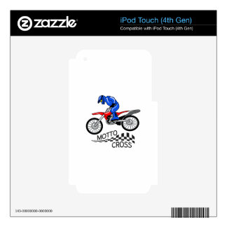 Mottocross Racing Decal For iPod Touch 4G