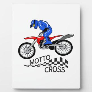 Mottocross Racing Plaque