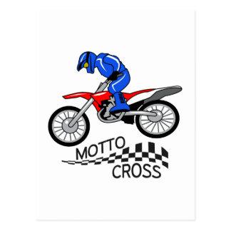 Mottocross Racing Postcard