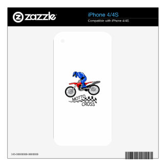 Mottocross Racing Skin For iPhone 4S