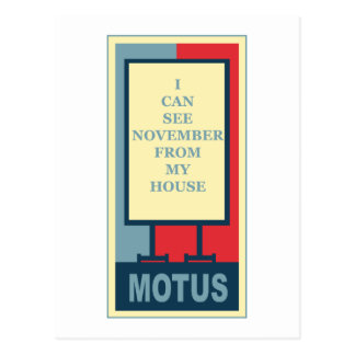 MOTUS ICON: I CAN SEE NOVEMBER FROM MY HOUSE POSTCARD