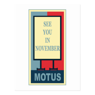 MOTUS ICON: SEE YOU IN NOVEMBER POST CARDS