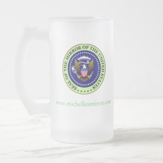 MOTUS SEAL: GREEN FROSTED GLASS BEER MUG