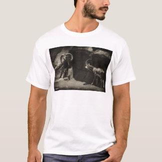 Mouflon Wild Sheep Scratching 1 Antiqued T-Shirt