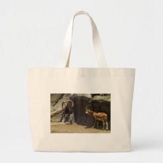 Mouflon Wild Sheep Scratching 1 Large Tote Bag