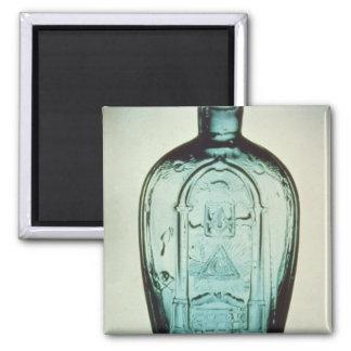 Mould-blown masonic flask magnet
