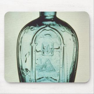 Mould-blown masonic flask mouse pad