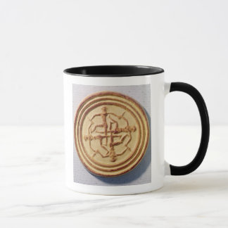 Mould depicting four warriors mug
