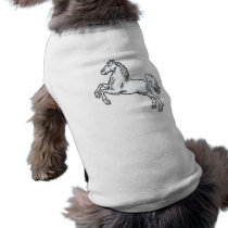Mould white horse white horse T-Shirt