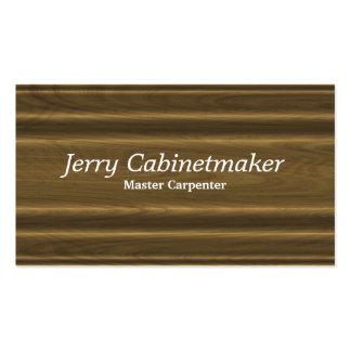Moulded woodgrain profile pattern business card