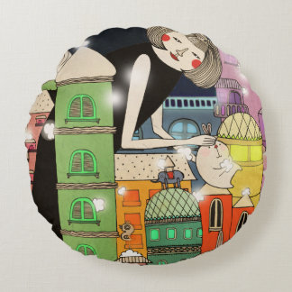 Mouldy city 2013 round pillow