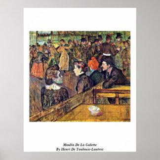 Moulin De La Galette By Enrique De Toulouse-Lautre Poster