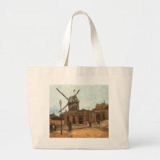 Moulin de la Galette by van Gogh, Vintage Windmill Bags