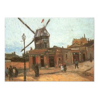 Moulin de la Galette by van Gogh, Vintage Windmill Custom Invitations