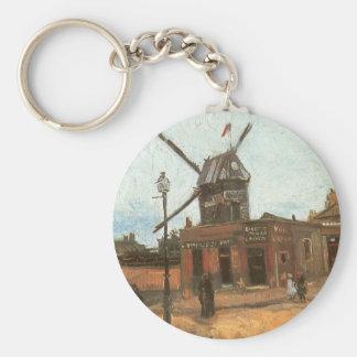 Moulin de la Galette by van Gogh, Vintage Windmill Key Chain