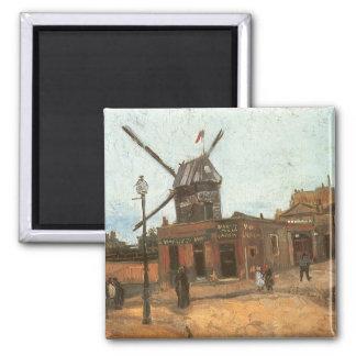 Moulin de la Galette by van Gogh, Vintage Windmill Magnet