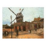 Moulin de la Galette by van Gogh, Vintage Windmill Postcard